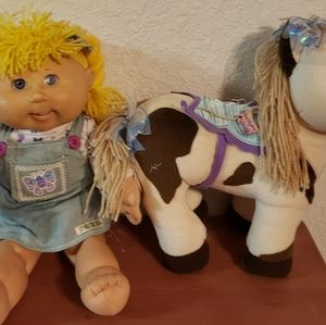 Vintage 2006 Cabbage patch doll and Horse sold as set